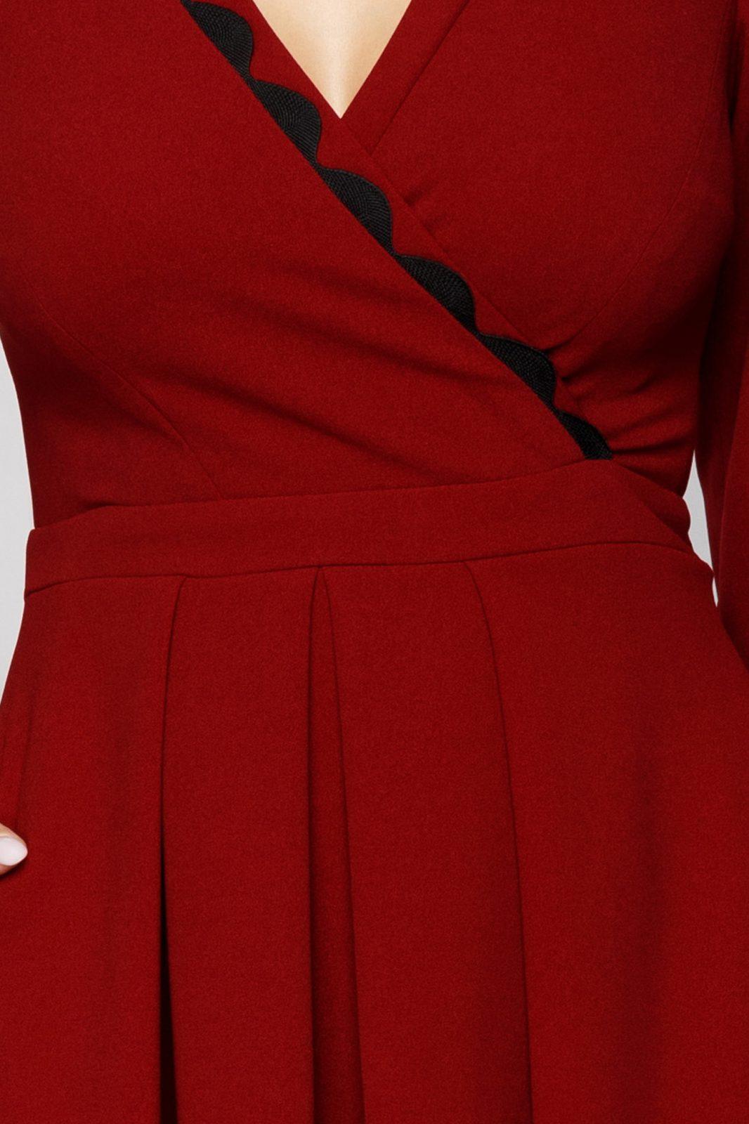 Moze Dora Μπορντό Φόρεμα 7023