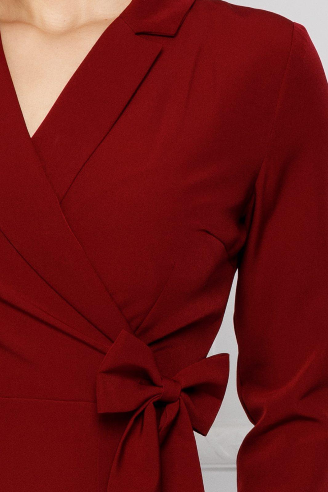 Μπορντό Φόρεμα Moze Sheyla 7043