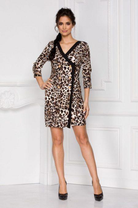 Yarina Animal Print Dress