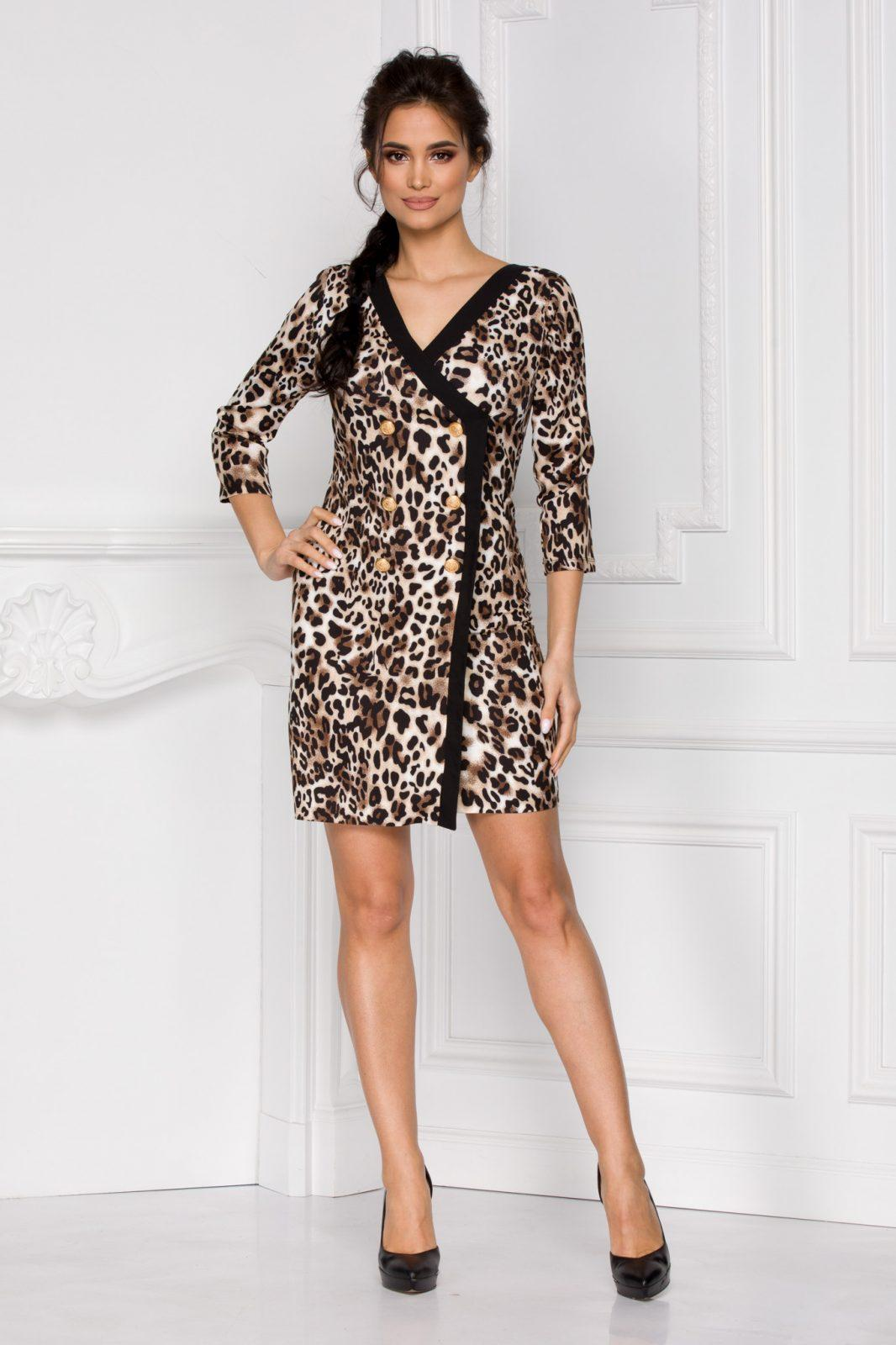 Yarina Animal Print Dress