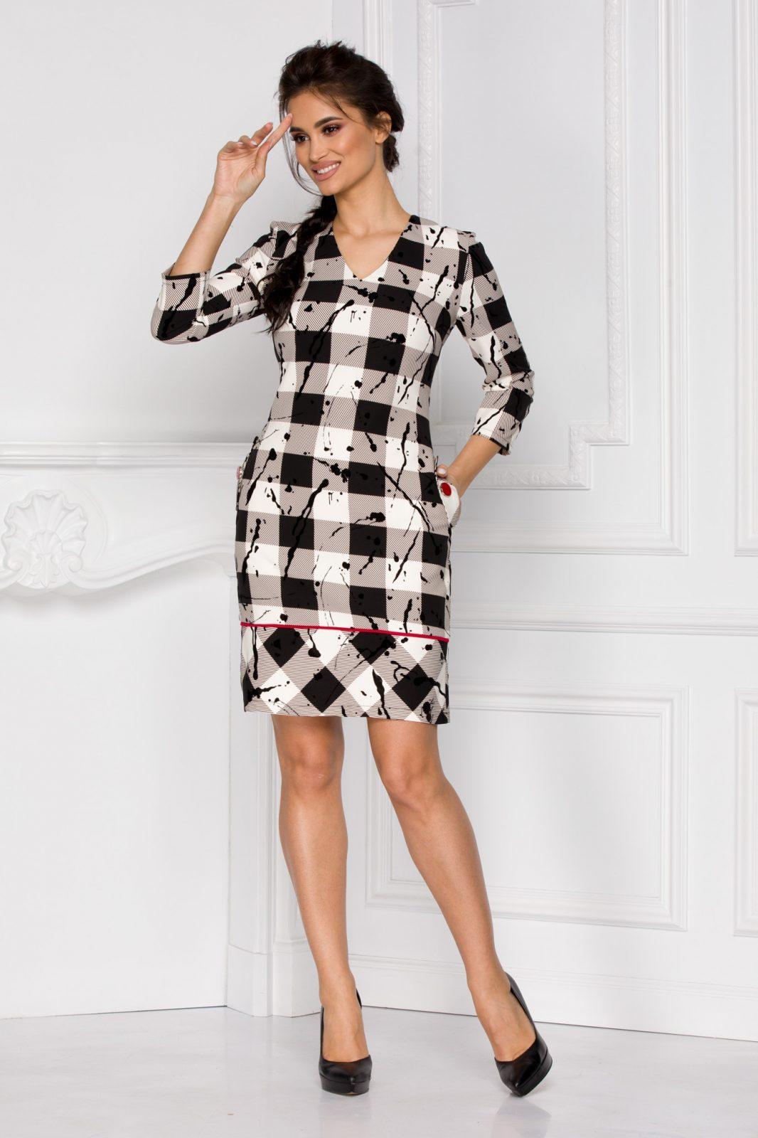 Serena Καρό Φόρεμα 6023