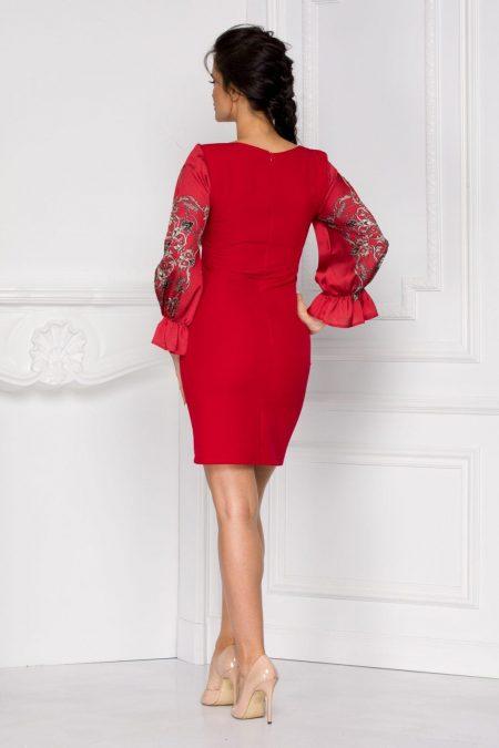 Claudine Κόκκινο Φόρεμα 6007