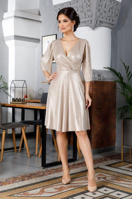 Anka Golden Dress