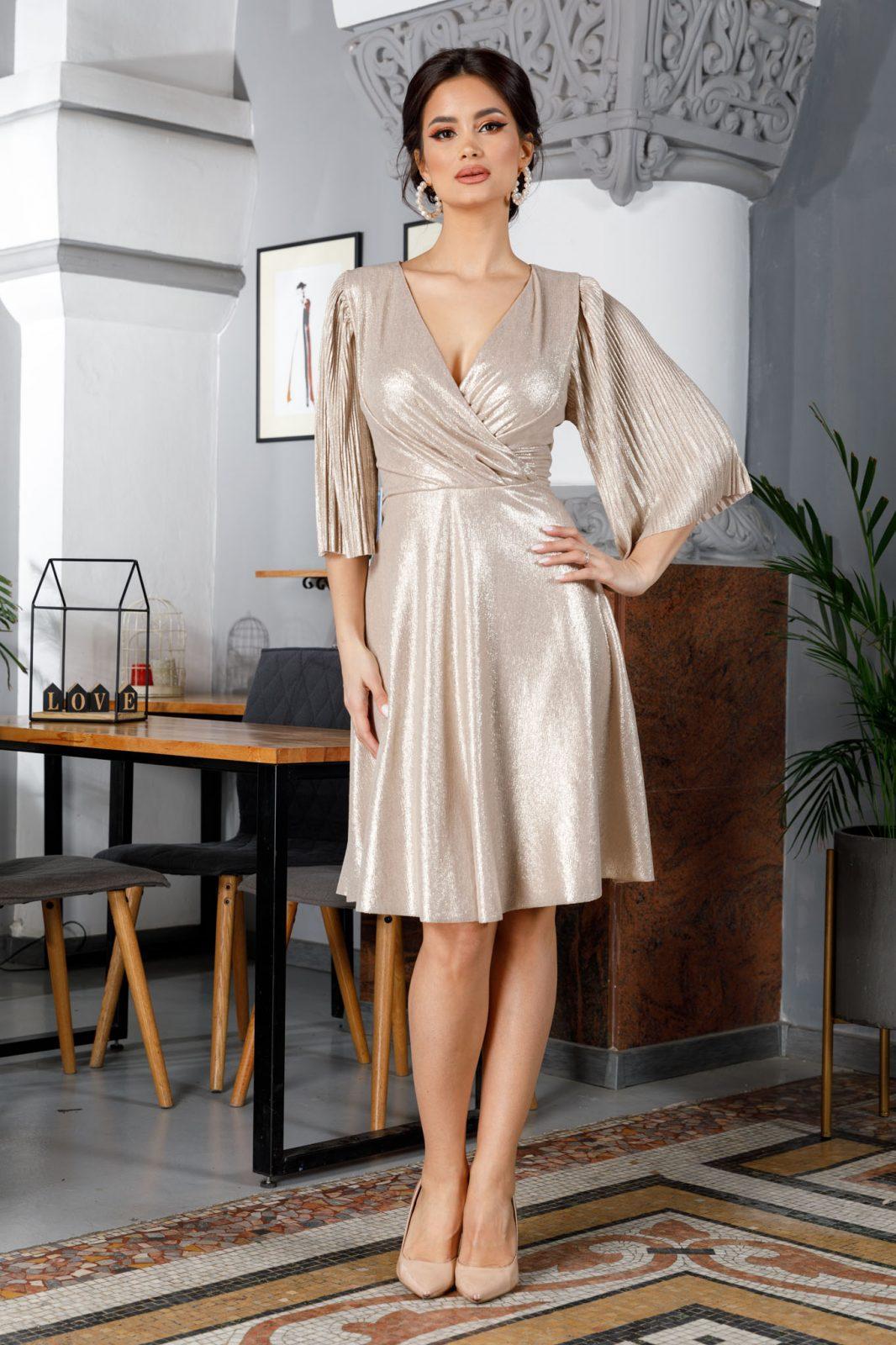 Μπεζ Κρουαζέ Φόρεμα Anka 5994