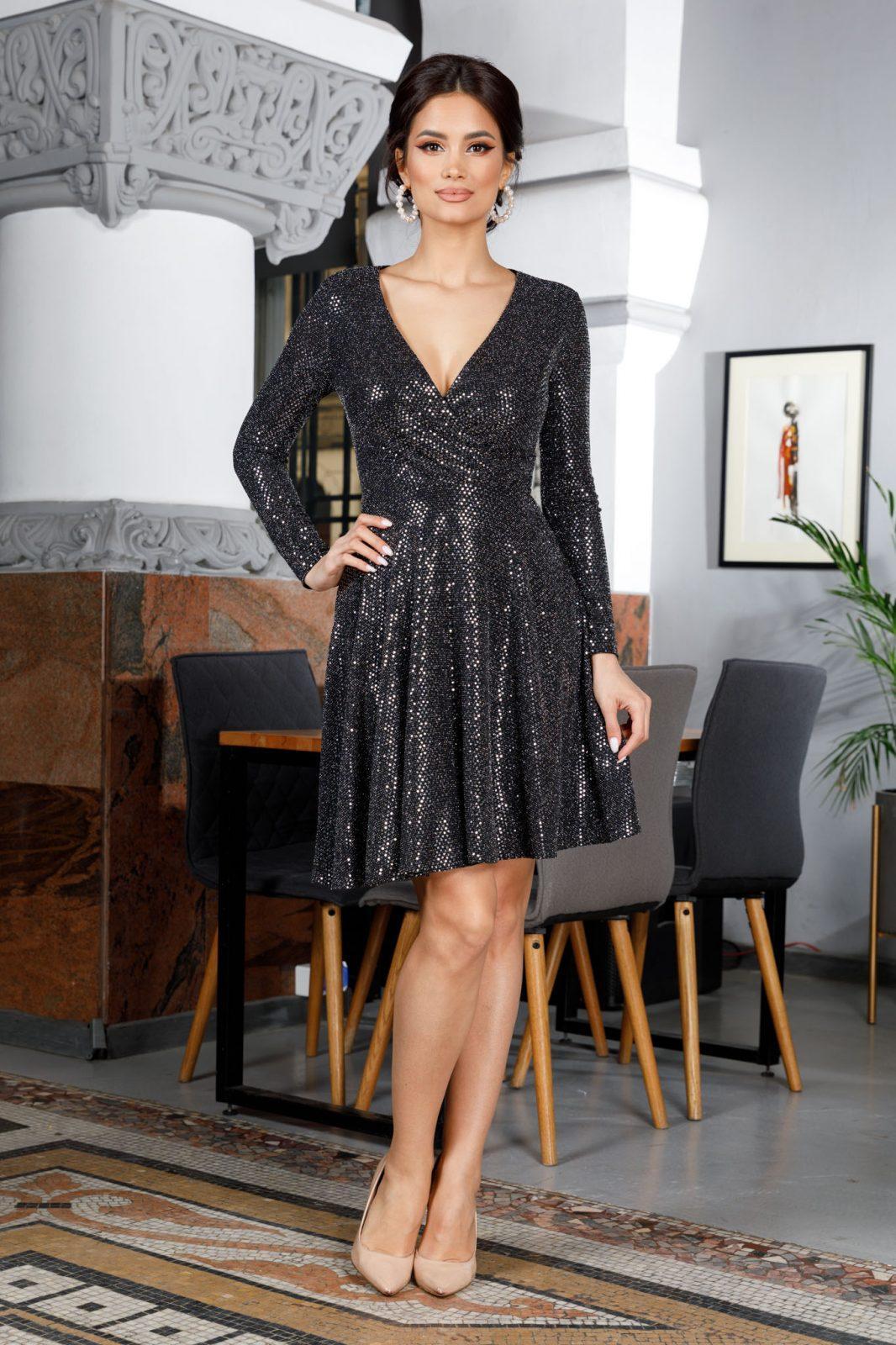 Adelynne Silver Dress