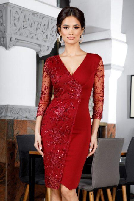 Verona Burgundy Dress