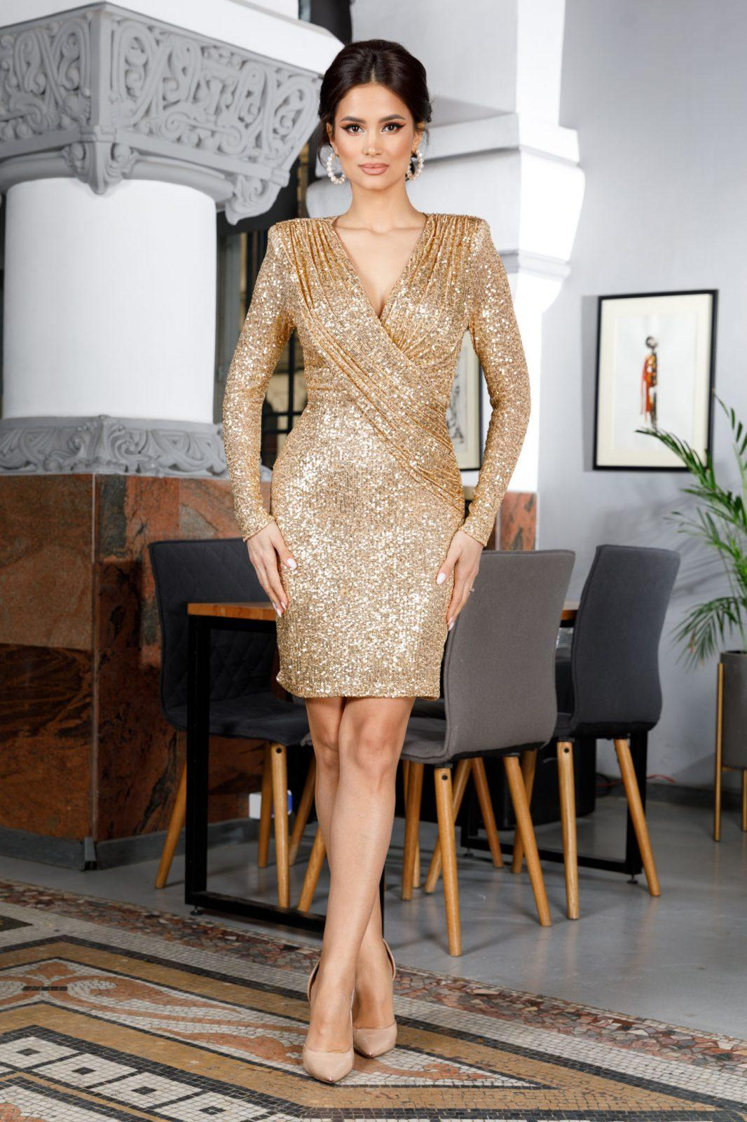 Amalia Golden Dress