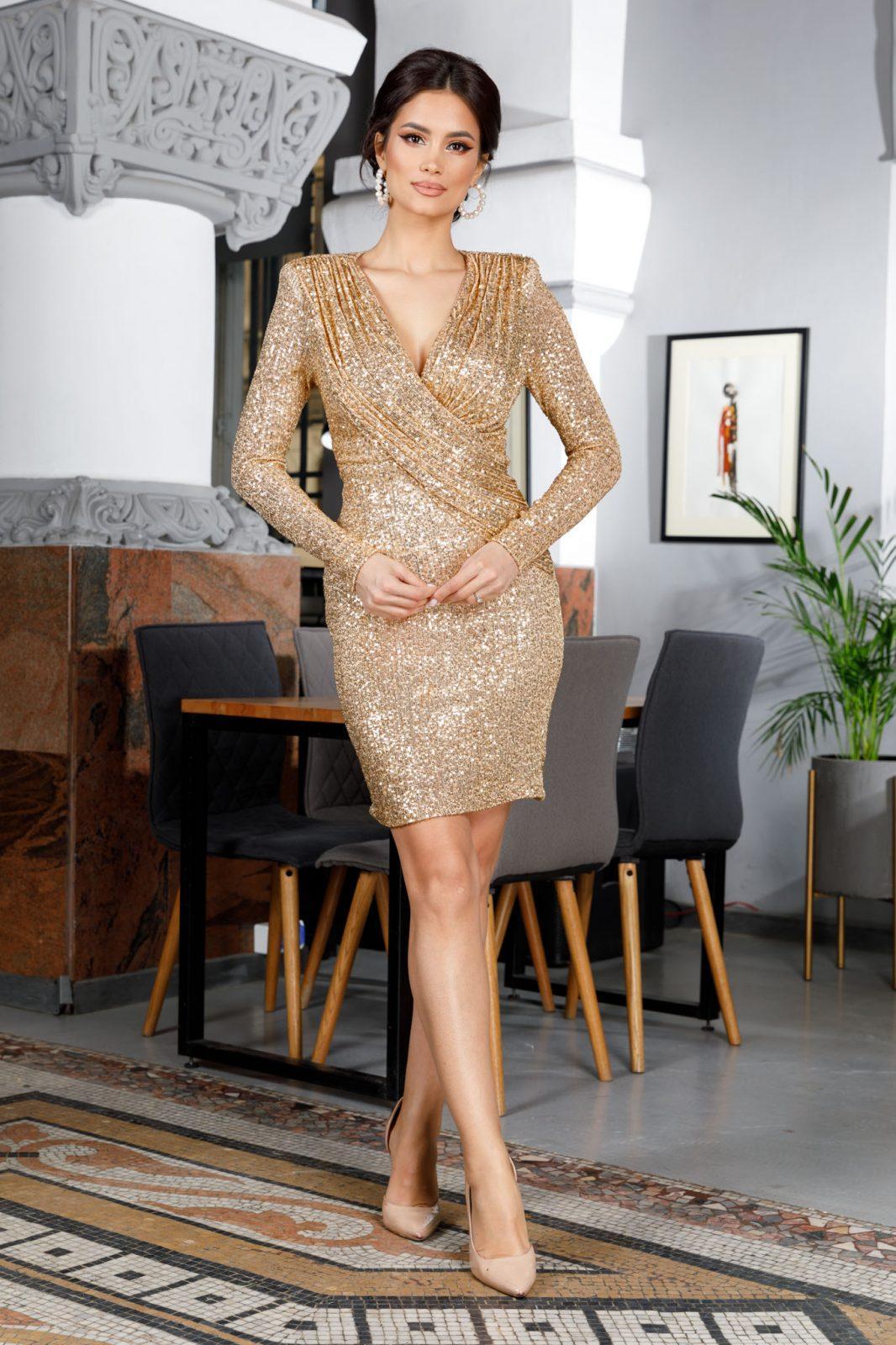 Amalia Χρυσό Φόρεμα 5965