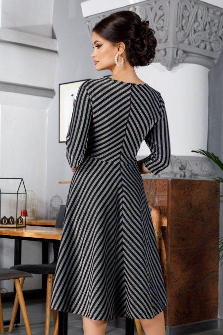 Lizzy Midi Γκρι Φόρεμα 5974