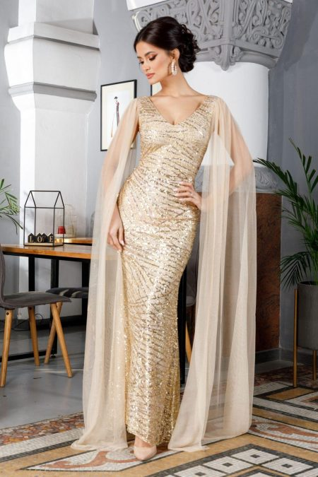 Giorgia Golden Dress