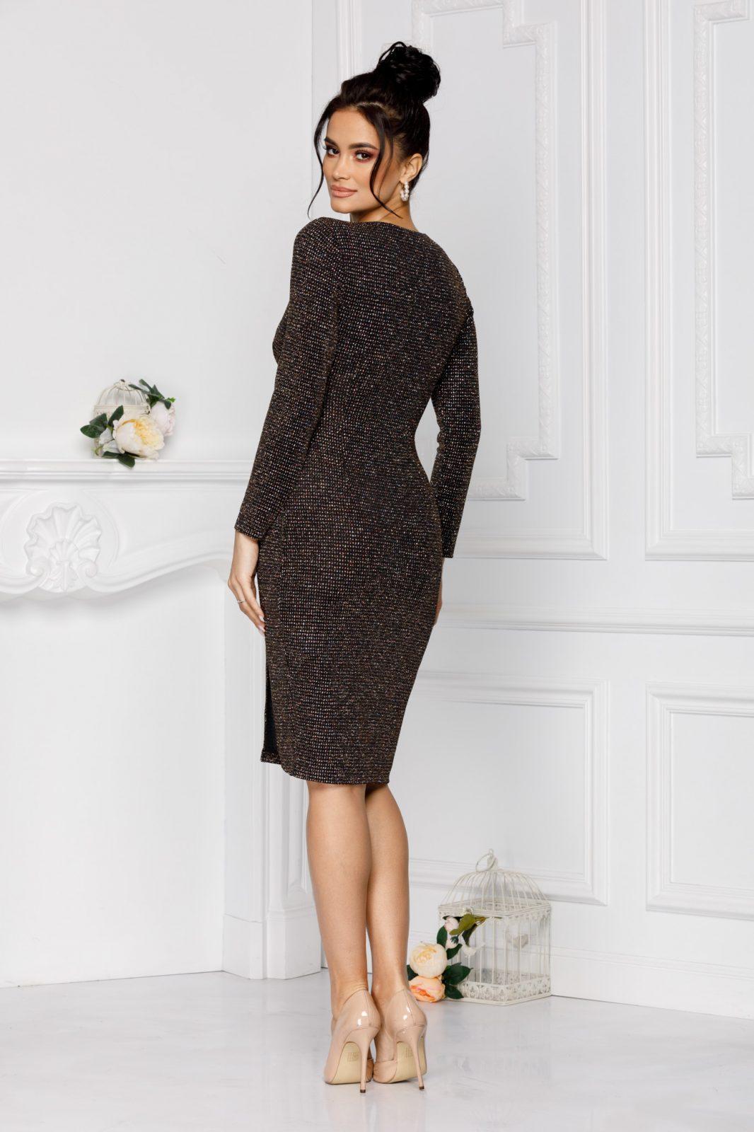 Gracielle Midi Μαύρο Φόρεμα 7014