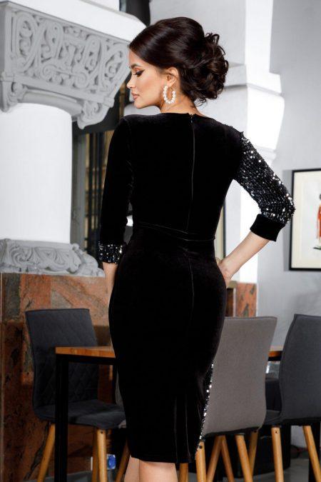 Rahela Midi Μαύρο Φόρεμα 5980