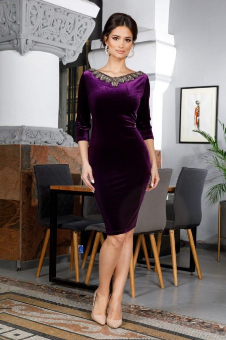 Enigma Violet Dress