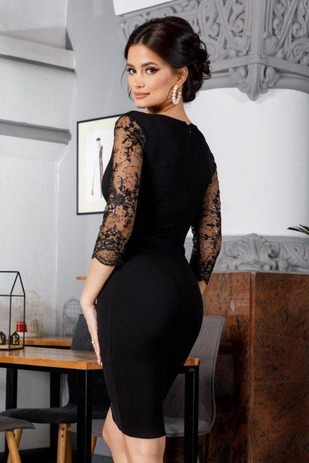 Verona Midi Μαύρο Φόρεμα 5984