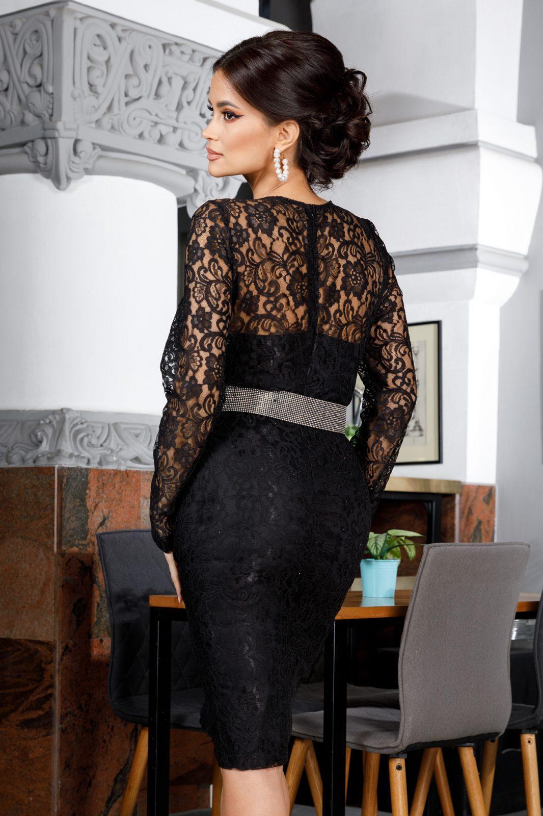 Lorra Midi Μαύρο Φόρεμα 5602