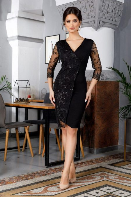 Verona Black Dress