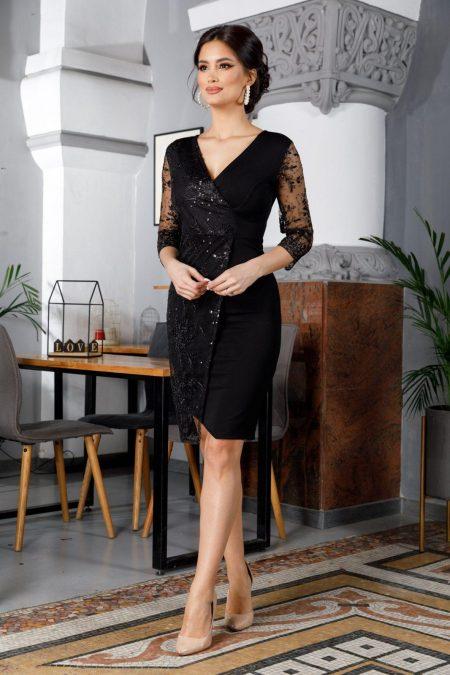 Μαύρο Κρουαζέ Φόρεμα Verona 5984