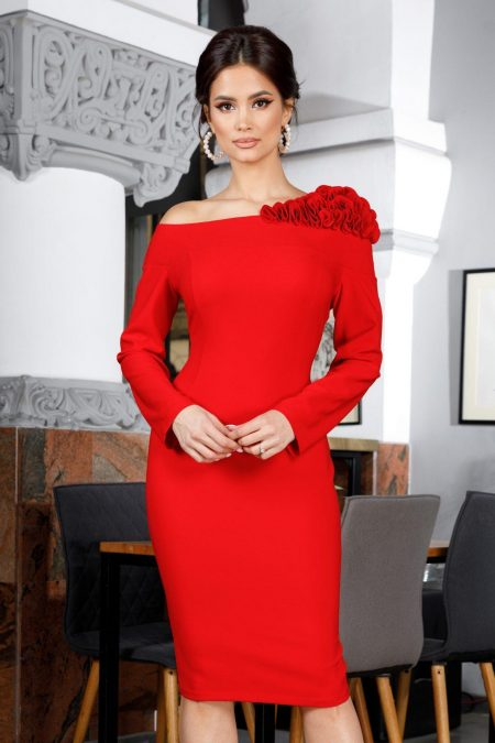 Arossa Red Dress