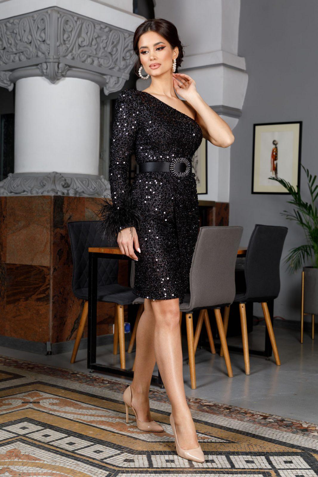 Karolyne Μαύρο Φόρεμα 6033