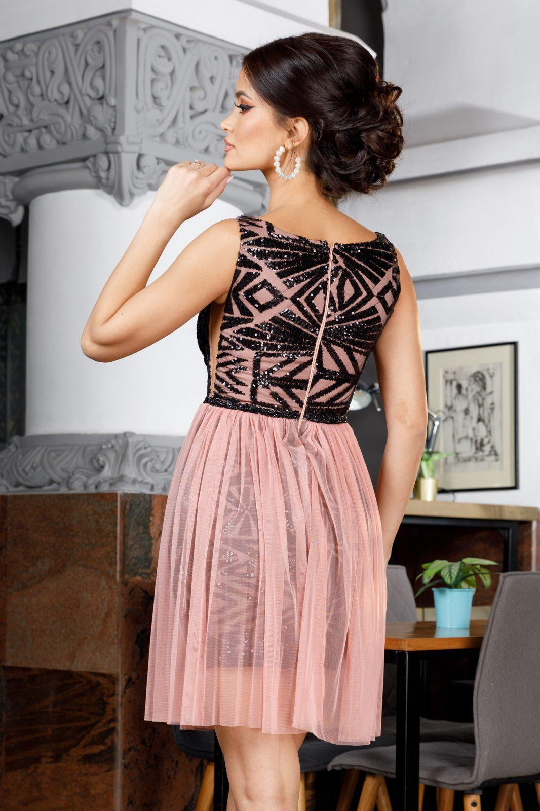 Ροζ Αμπιγιέ Φόρεμα Izza 4989 6