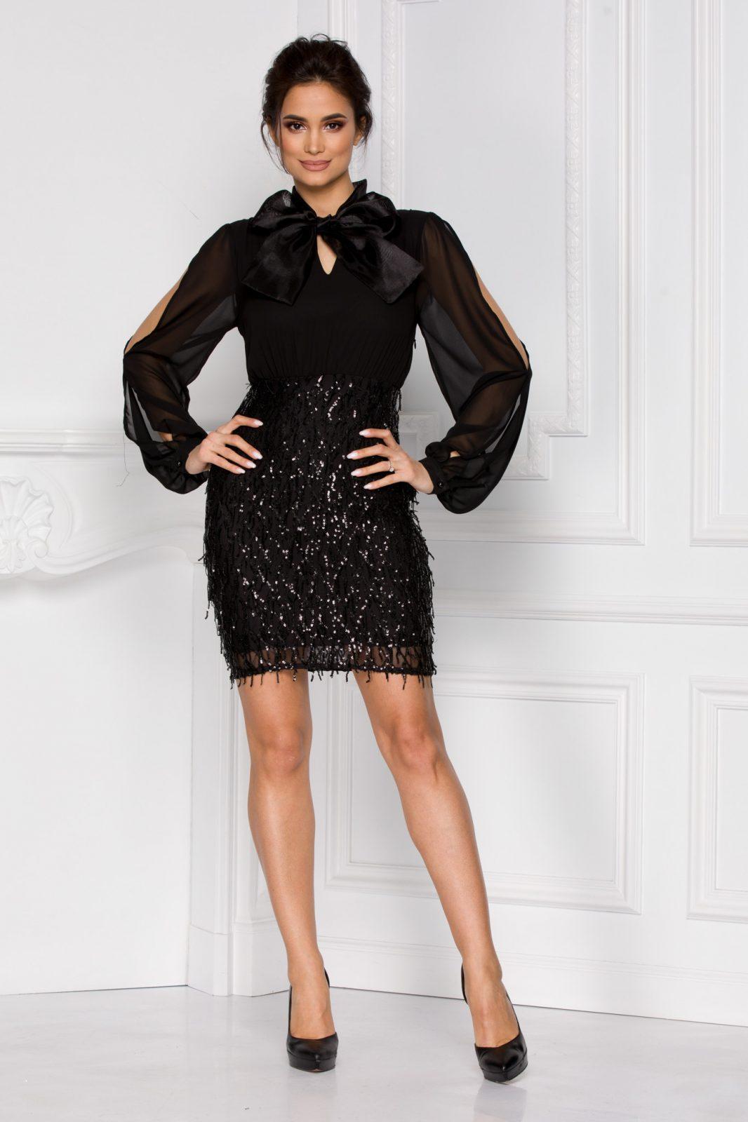 Doris Μαύρο Φόρεμα 5930