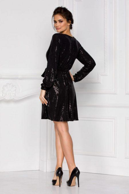 Bethany Μαύρο Φόρεμα 5986