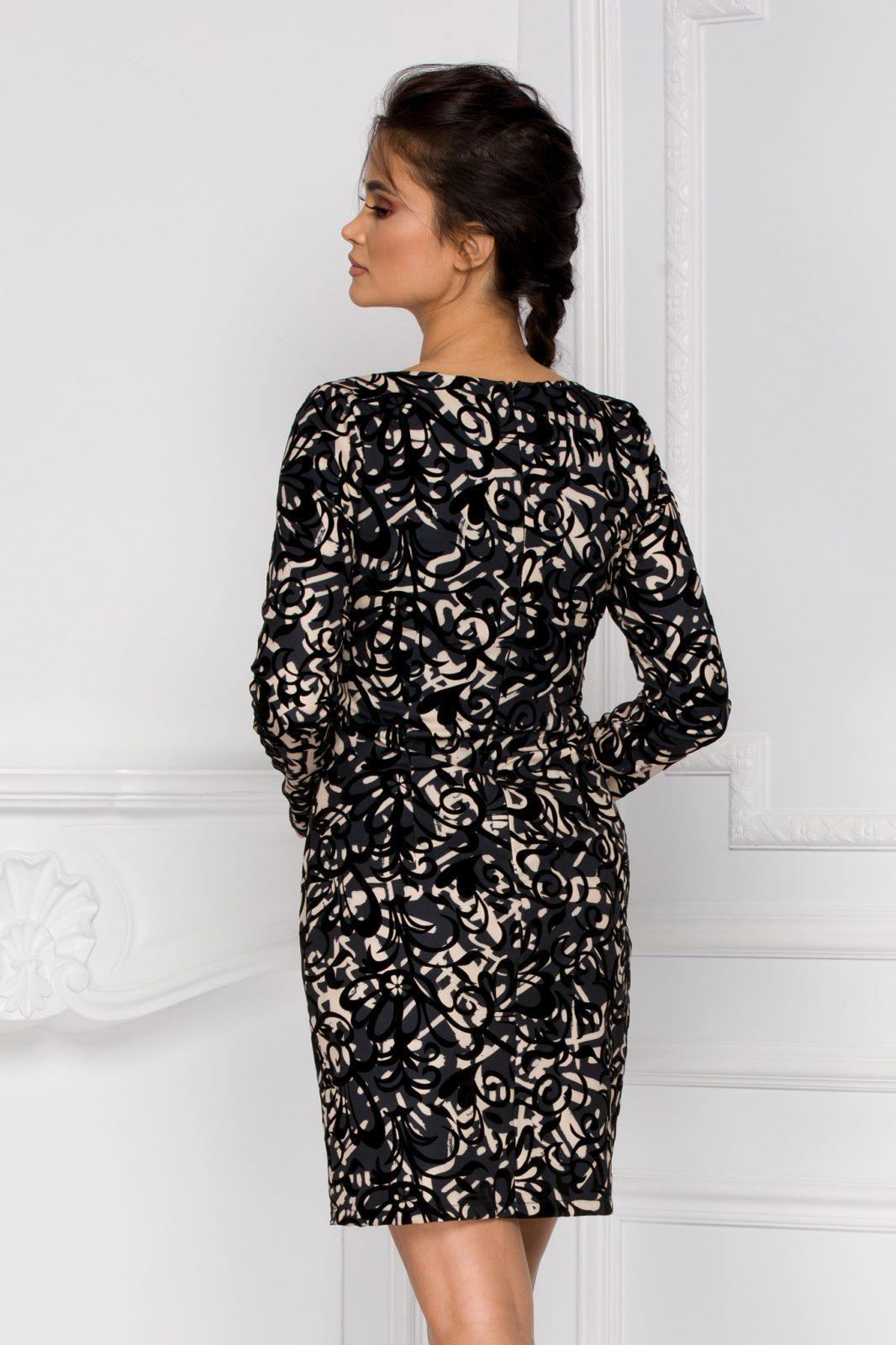Nisa Ασπρόμαυρο Φόρεμα 6017