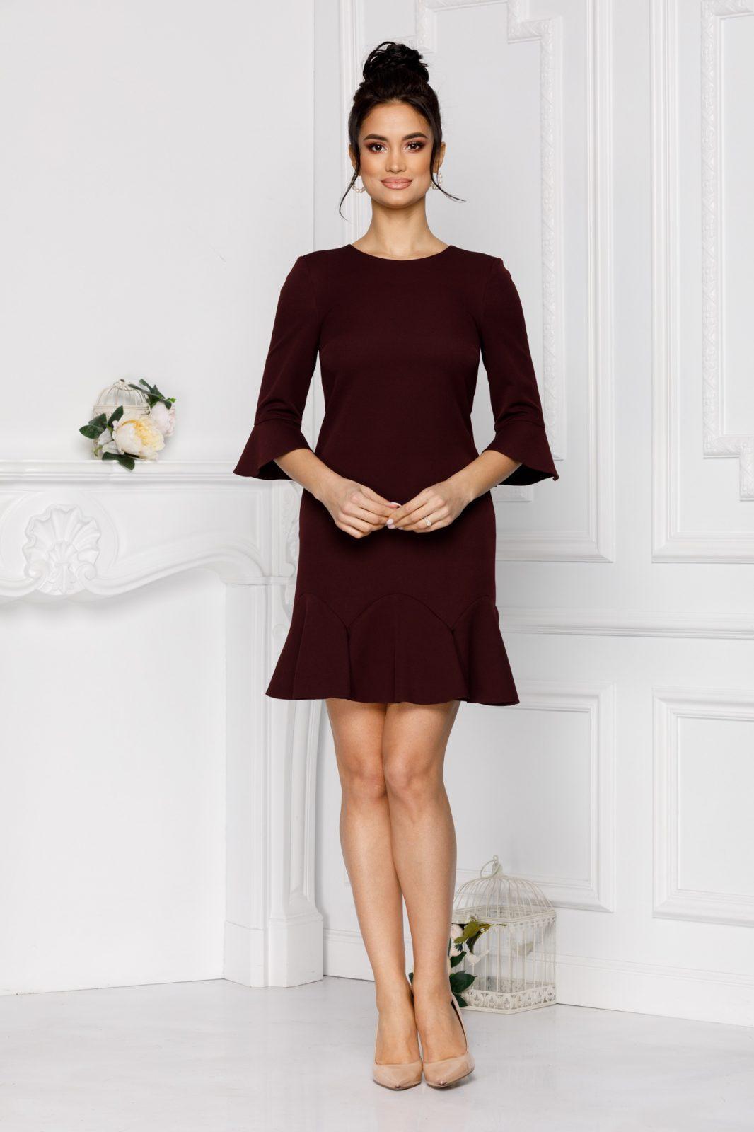 Μπορντό Φόρεμα Ginette 7002 2