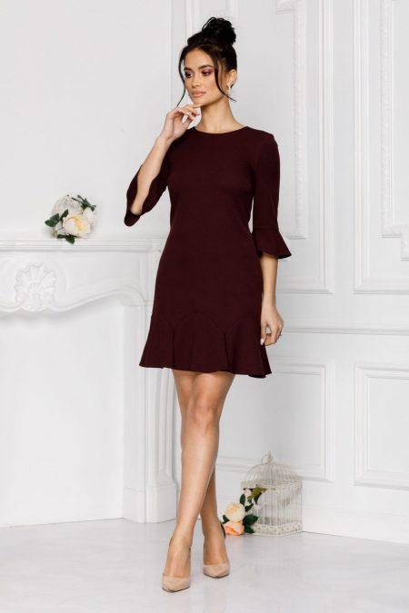 Ginette Burgundy Dress