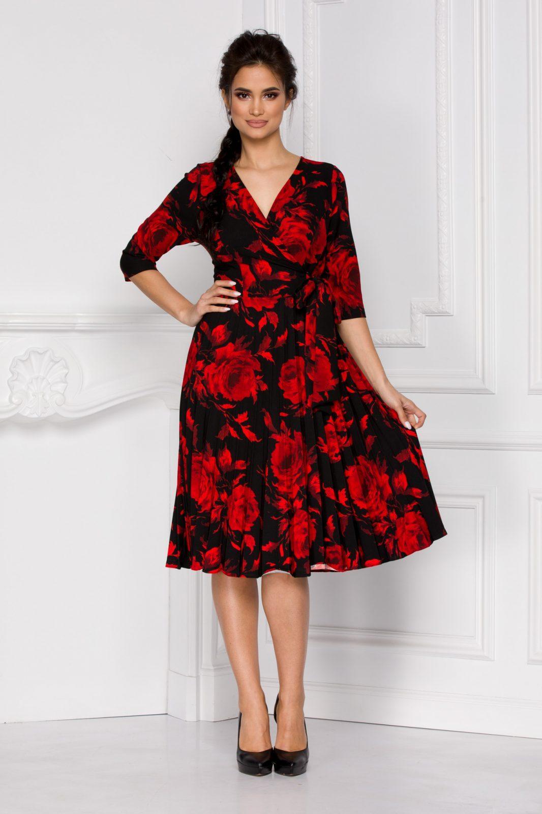 Floreal Κόκκινο Φόρεμα 5925