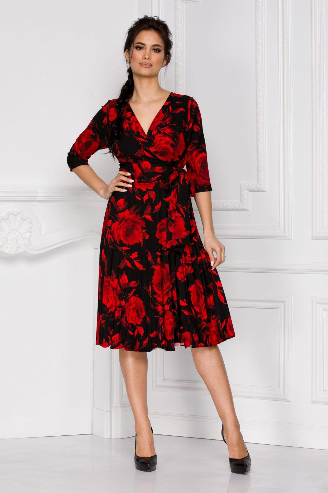 Floreal Red Dress