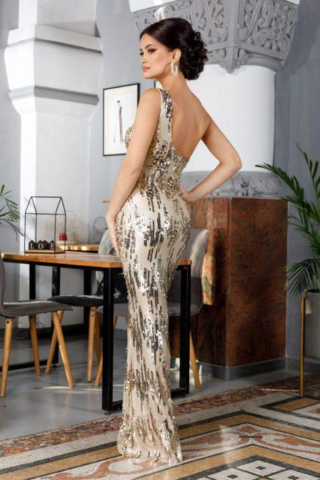 Tiarra Χρυσό Φόρεμα 4926