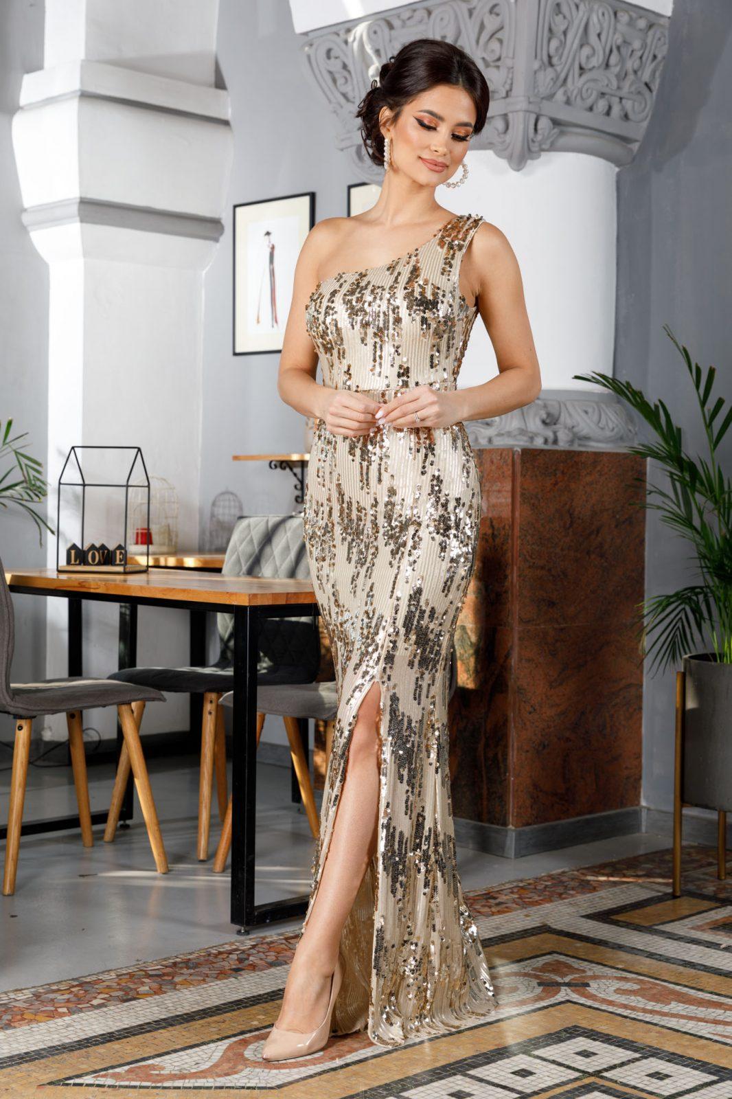Tiarra Golden Dress