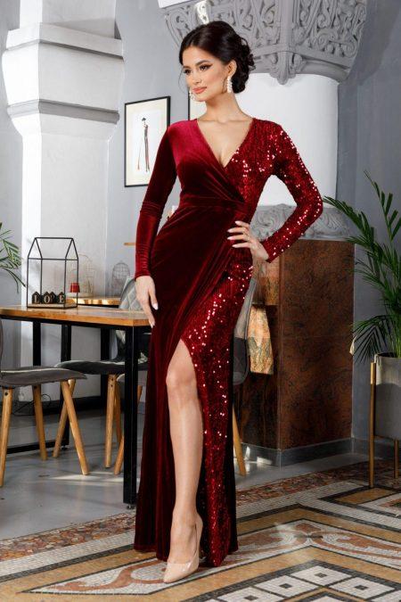 Swan Burgundy Dress