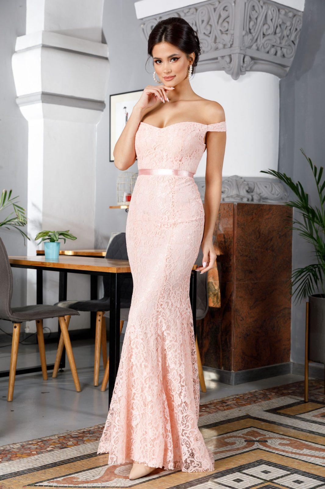 Clara Peach Dress