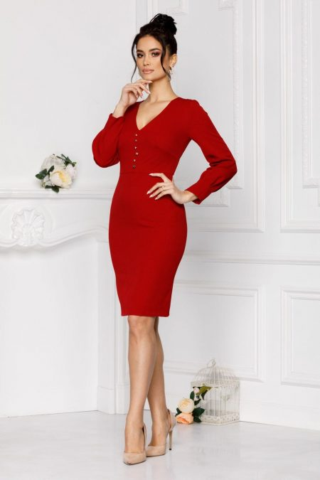 Moze Vera Red Dress