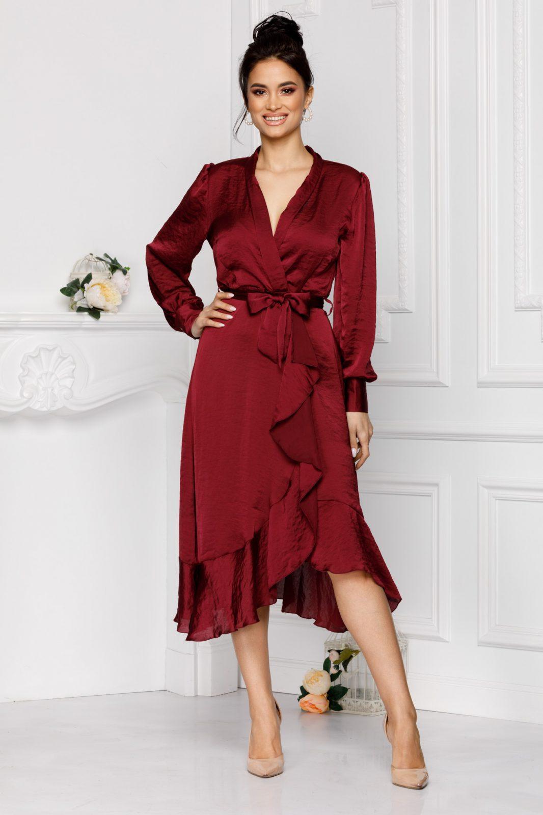 Diane Burgundy Dress