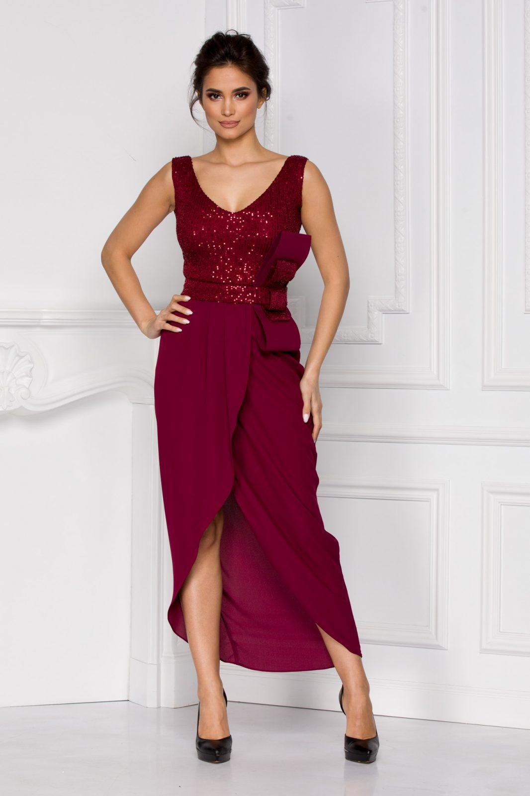 Iasmin Burgundy Dress