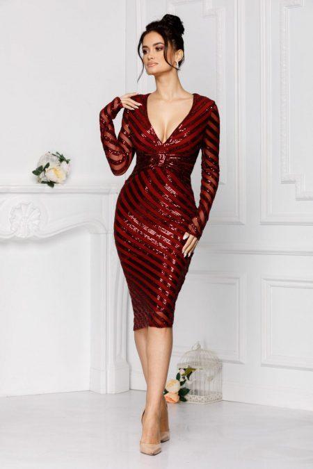 Novia Burgundy Dress