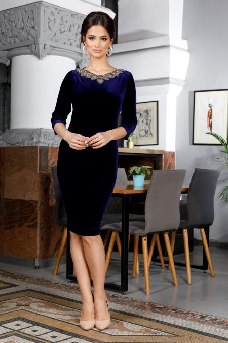 Enigma Navy Blue Dress