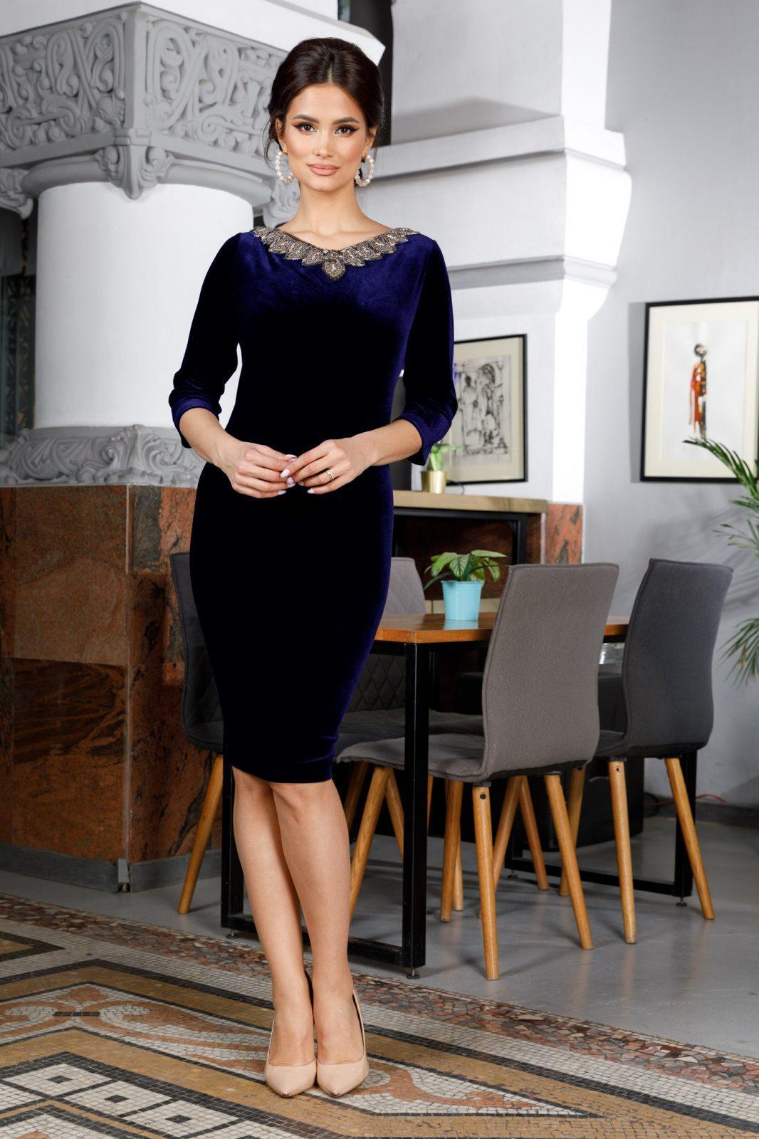Enigma Navy Blue Dress