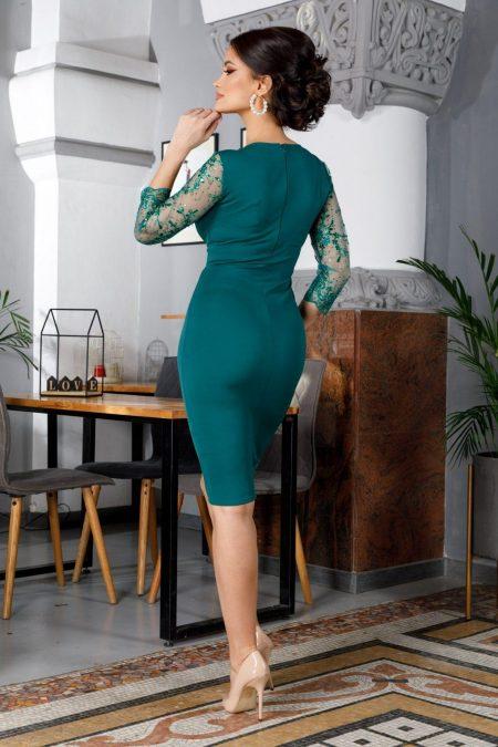 Verona Midi Πράσινο Φόρεμα 5983