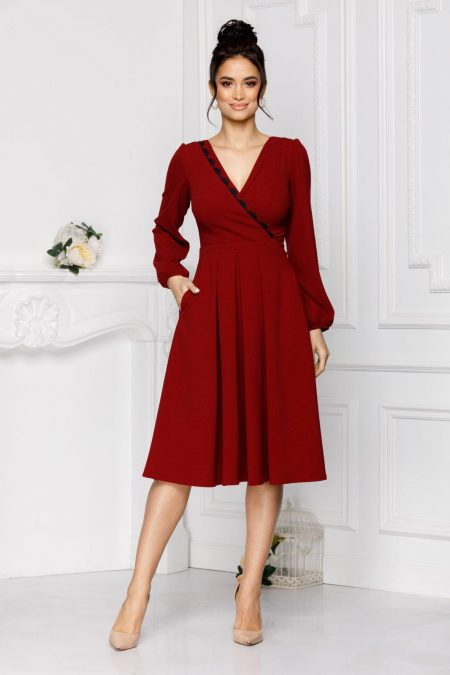 Moze Dora Burgundy Dress