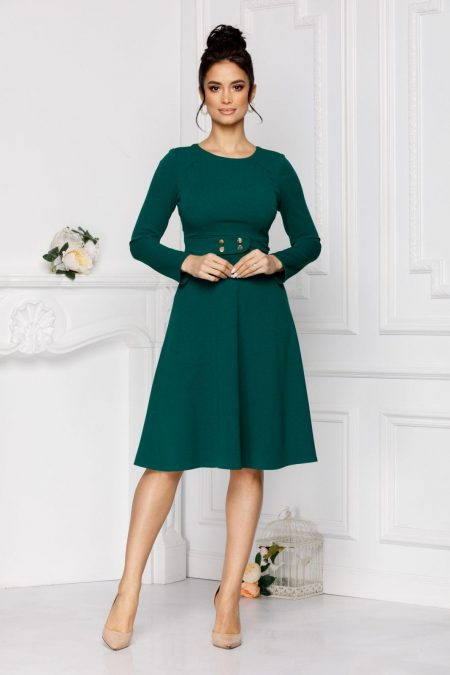 Moze Adela Green Dress