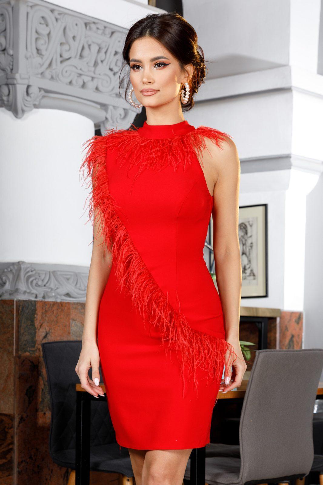 Janine Red Dress