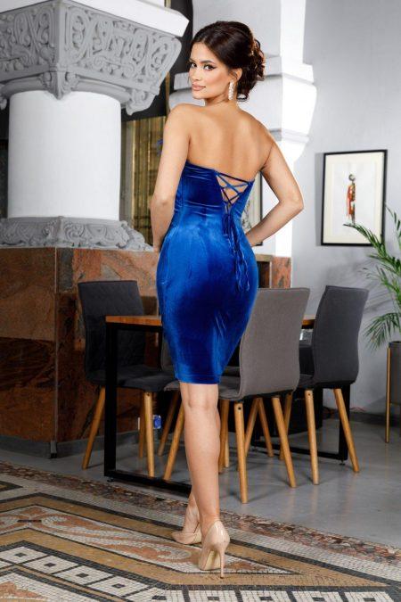 Adorable Midi Μπλε Φόρεμα 5968
