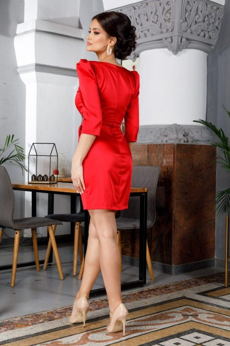 Carina Mini Κόκκινο Φόρεμα 5992
