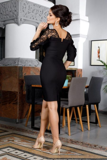 Adore Midi Μαύρο Φόρεμα 5988