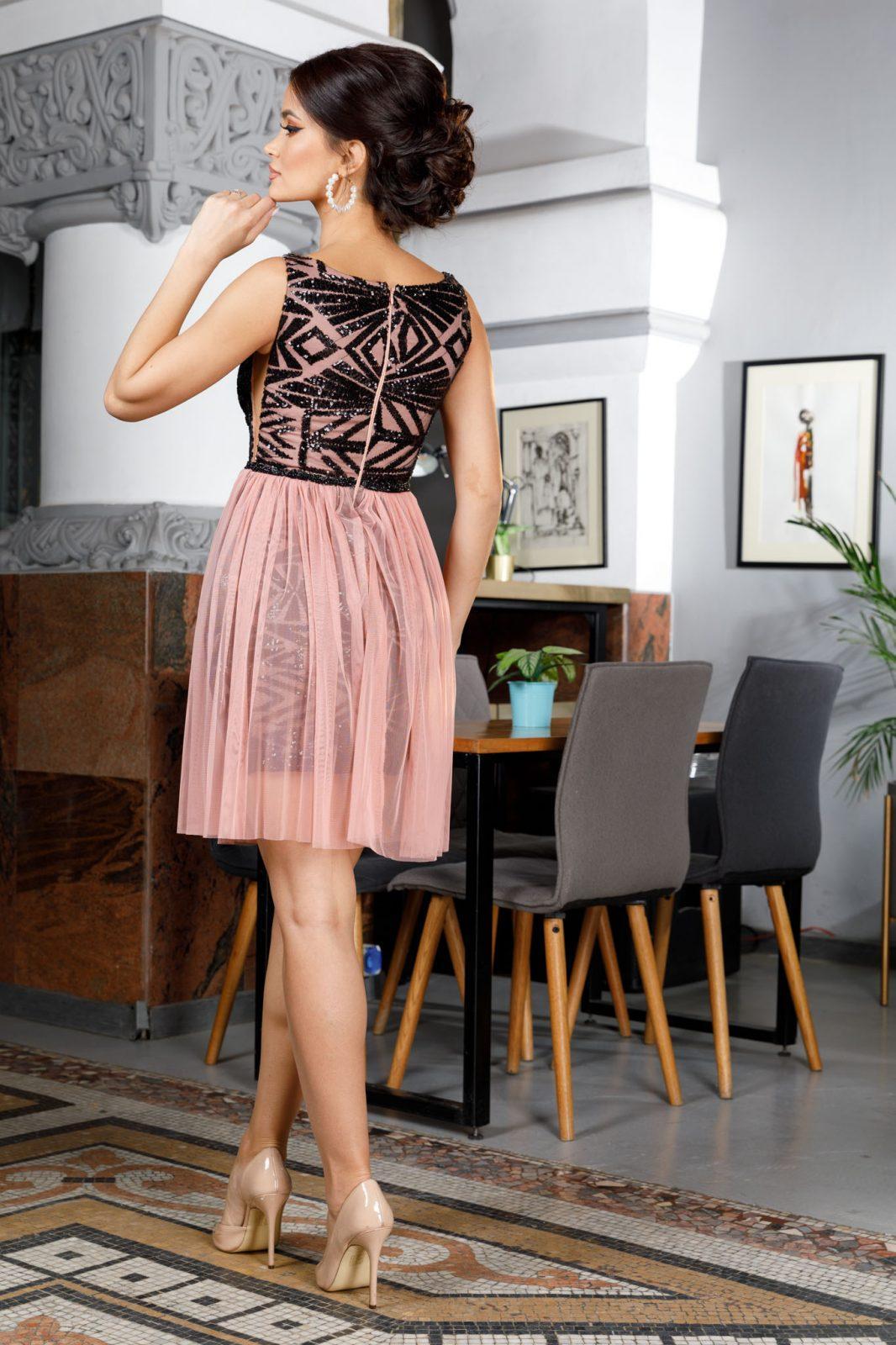 Ροζ Αμπιγιέ Φόρεμα Izza 4989 1