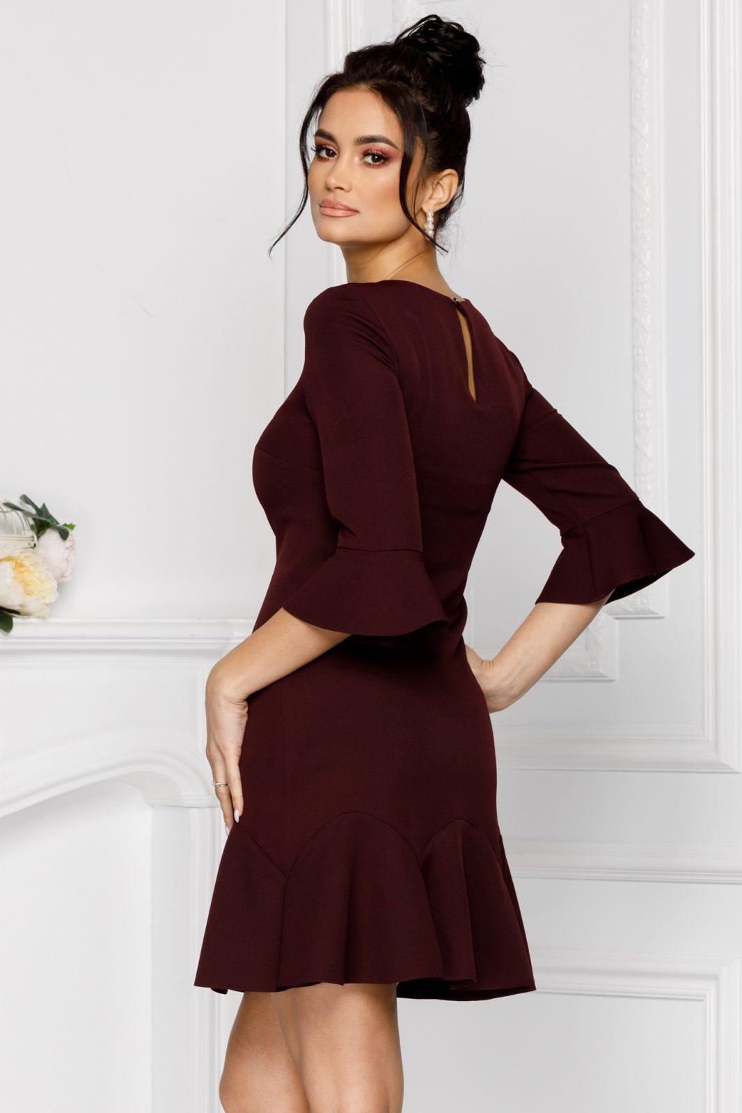 Ginette Βουργουνδία Φόρεμα 7002